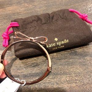 Kate Spade rose gold bow bangle NWT